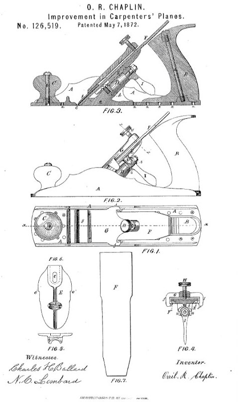 Chaplins Patented Hand Planes